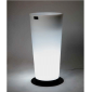 Vaso luminoso Sunset con base tondo bianco
