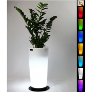 Vaso luminoso Sunset con base tondo multicolor